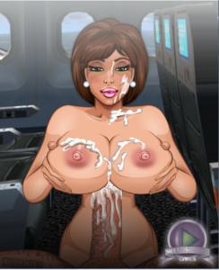 sexy flight attendant hentai flash game