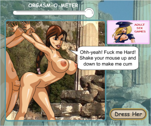 Dressup Lara Croft Bad Ass Brunette Chick Being Fucked