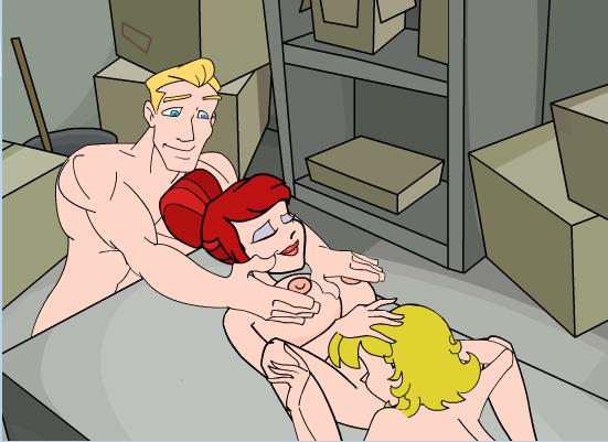 Dirty Ernie Show 6 Lesbian Cunnilings Threesome Boob Grab