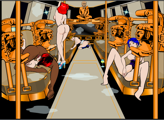 Pole Her Express Train Filled With Horny Chicks