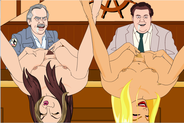 Reers Charlie and Chick Masterbating in Front of Guys Drooling