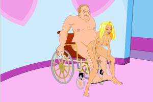 The Mating Game Charlie Fucking Paraplegic Dude in Wheelchair Adult Cartoon Video