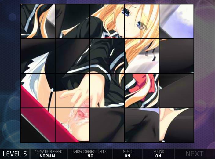 Hentai Puzzle 2 Blond Chick Masturbating in School Uniform Porn Game