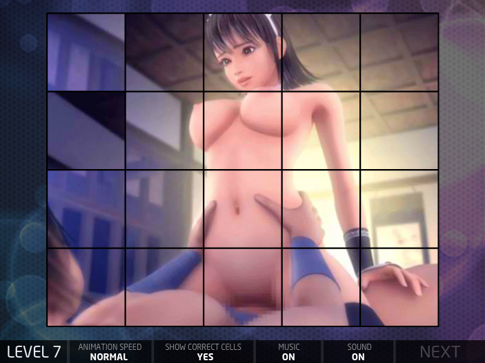 Hentai Puzzle 5 Brunette Chick Bouncing on Athetic Dude's Dick Porn Game